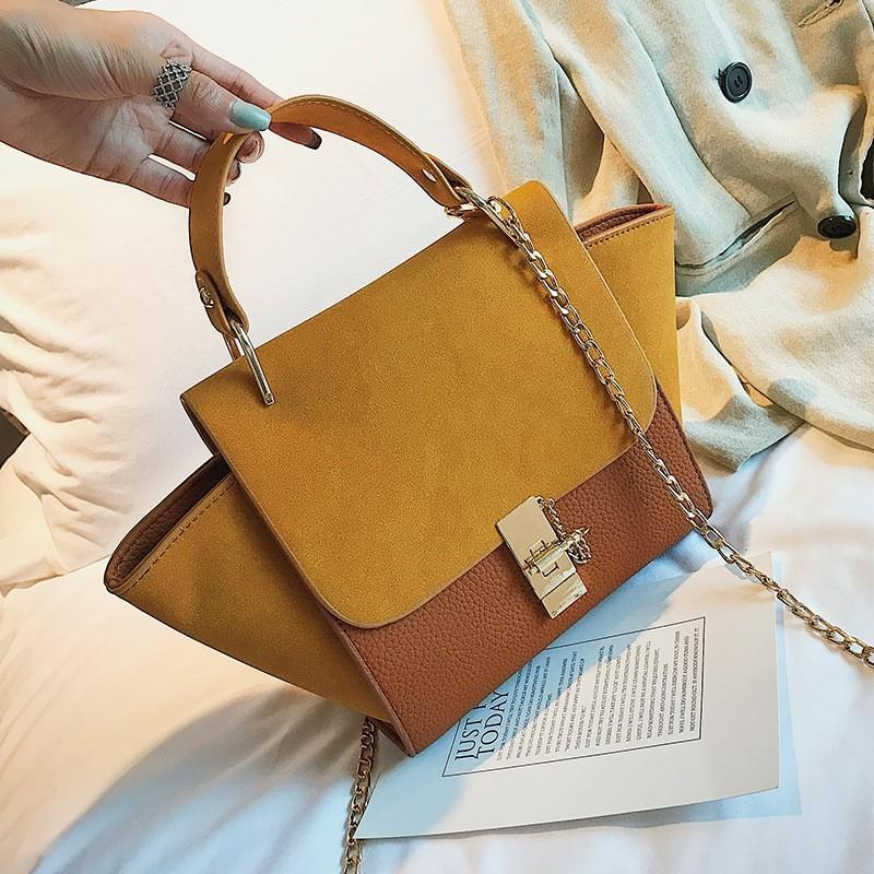 244f54019d75 Female Trapeze 2019 PU Leather Suede Luxury Handbags Women Bags Designer  Ladies Large Shoulder Messenger For Bag High Quality Evening Bags Leather  Goods ...