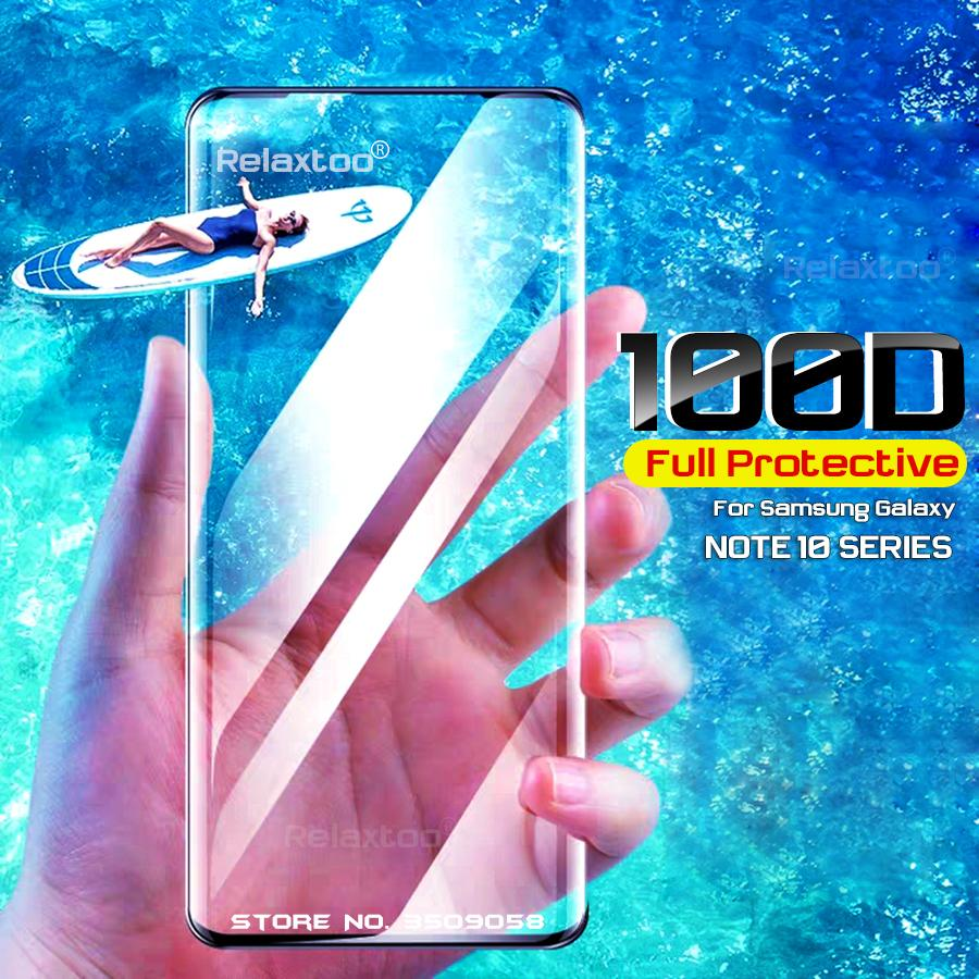 Note10 Pro Glas 100D Tempered Glass Screen Protector For Galaxy Note 10 Pro S10 5G Plus S10E S10Plus S10+ S 10 10S Film