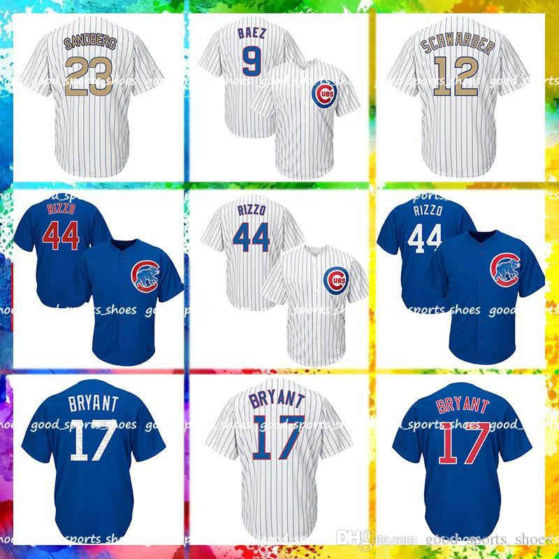 low priced adaaa be3d4 Chicago Cubs Majestic Coolbase Jersey 9 Javier Baez Jersey 12 Kyle  Schwarber 23 Ryne Sandberg 22 Jason Heyward