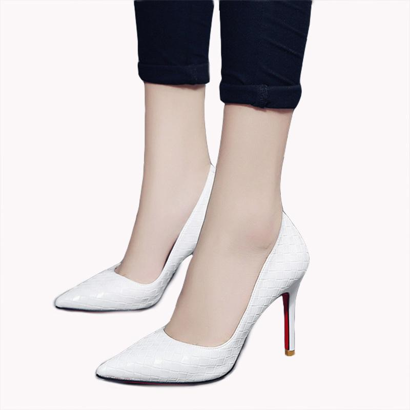 b859472f0def Pumps Women White Girl High Heel Women S Fine With 2019 Women S Shoes New  Pointed Black Fresh Princess Shoes Sperry Shoes Silver Heels From Deals888