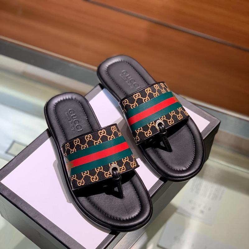 bb99273c3da Quality 2019 Luxury Rubber Slide Sandal Floral Brocade Men Slipper ...