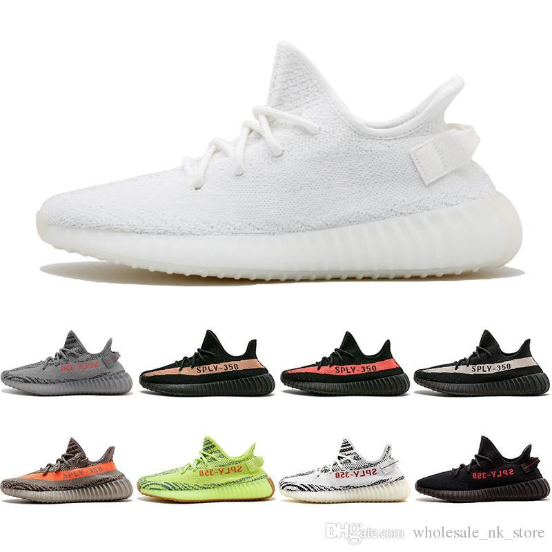 0a93fc51c66bb Newest SPLY 350 V2 Semi Frozen Yellow Beluga 2.0 Blue Tint Zebra Cream  White V2 350 Sport Casual Shoes Mens Women Sneakers Skechers Shoes Mens  Dress Shoes ...