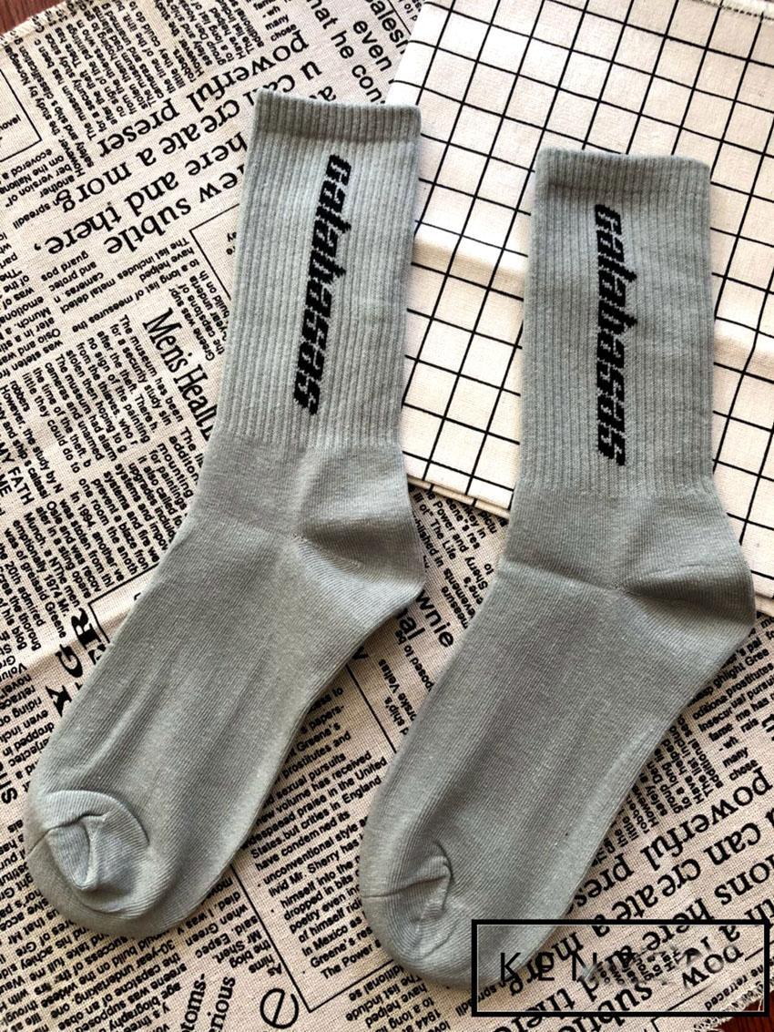 36f1276a3 2019 2018 SS Calabasas Socks Kanye West Season 5 Men Women Unisex Socks  Sports Stockings Tide Skateboard Sock Size 36 44 From Letin18