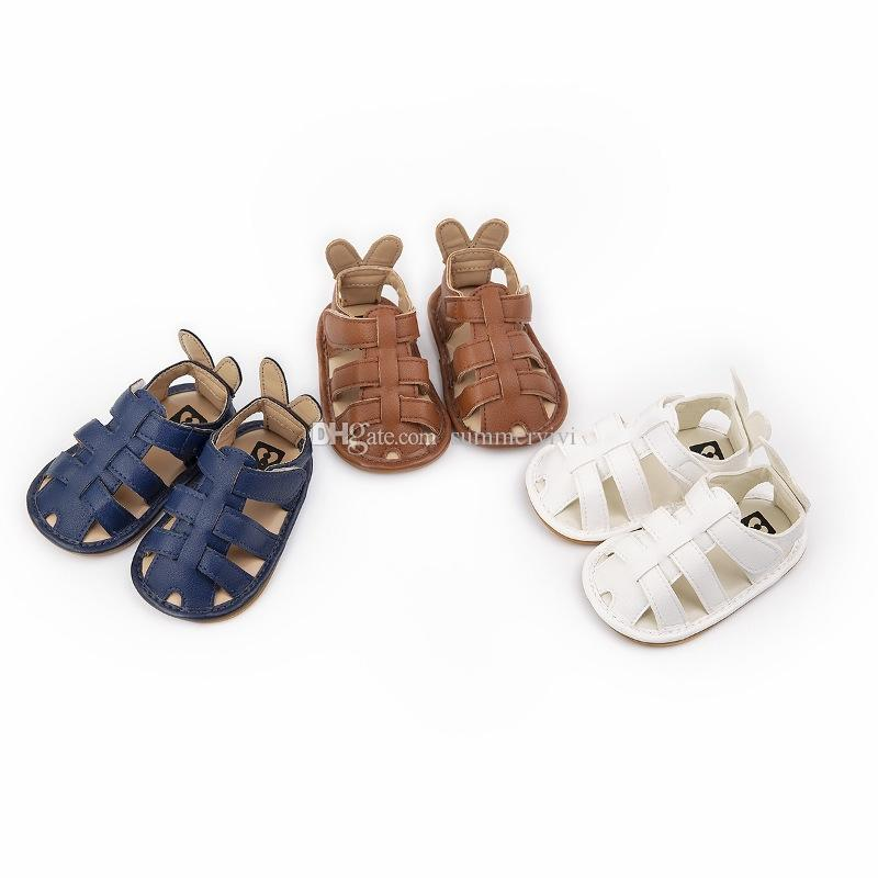 Baby sandals infant girls stereo cartoon rabbit ear casual shoes toddler kids non-slip first walkers 2019 summer baby girl sandals F5813