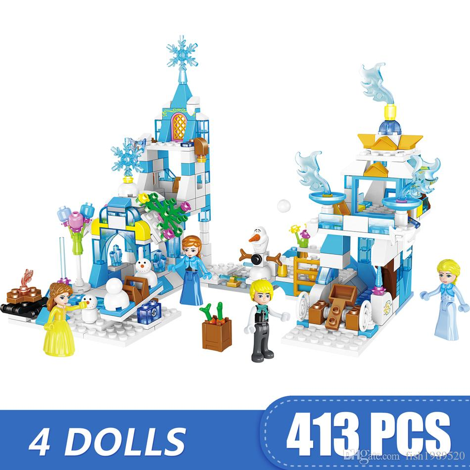 413PCS Small Building Blocks Toys Compatible with Legoe Princess Iceland Gift for girls boys children DIY
