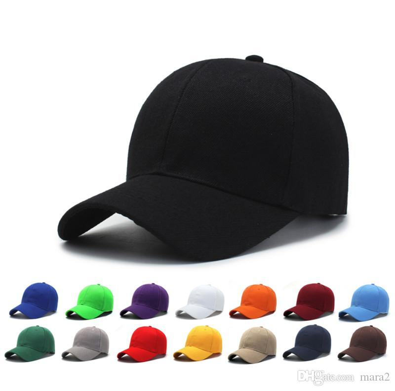 43f47bd3de Women & men hat Unisex Snapback Cap adjustable baseball golf hat gorra  casquette outdoor travel sports beach sun hat natural solid color 730