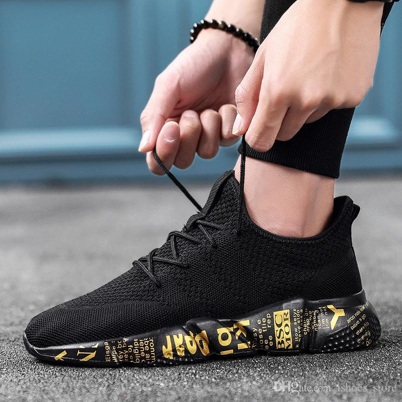 f5a7146efc Bomlight Breathable Walking Shoes Men Trainers Sneakers Men Graffiti Shoes  Male Trending Tenis Masculino Adulto Zapatillas 39-48 #6881