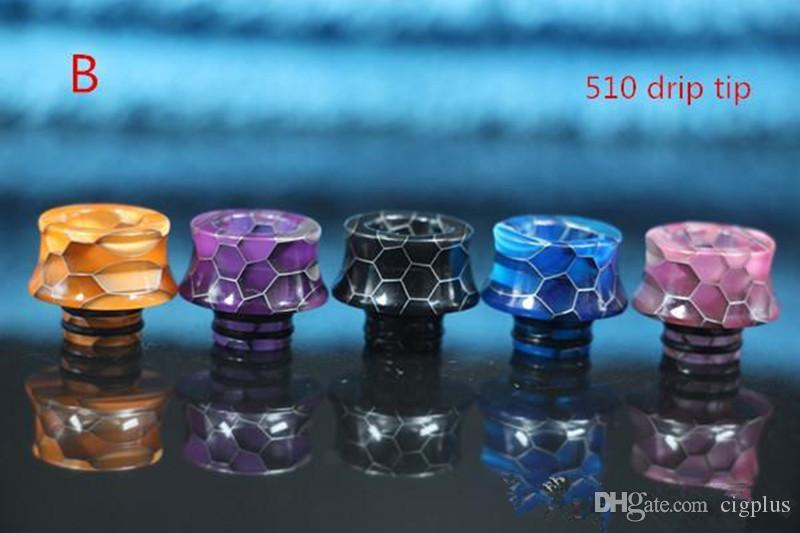vape 810/510 drip tip resin latest craze snake skin drip tip wide bore mouthpiece for kangerthech TFV12 TFV8 tank china factory wholesale