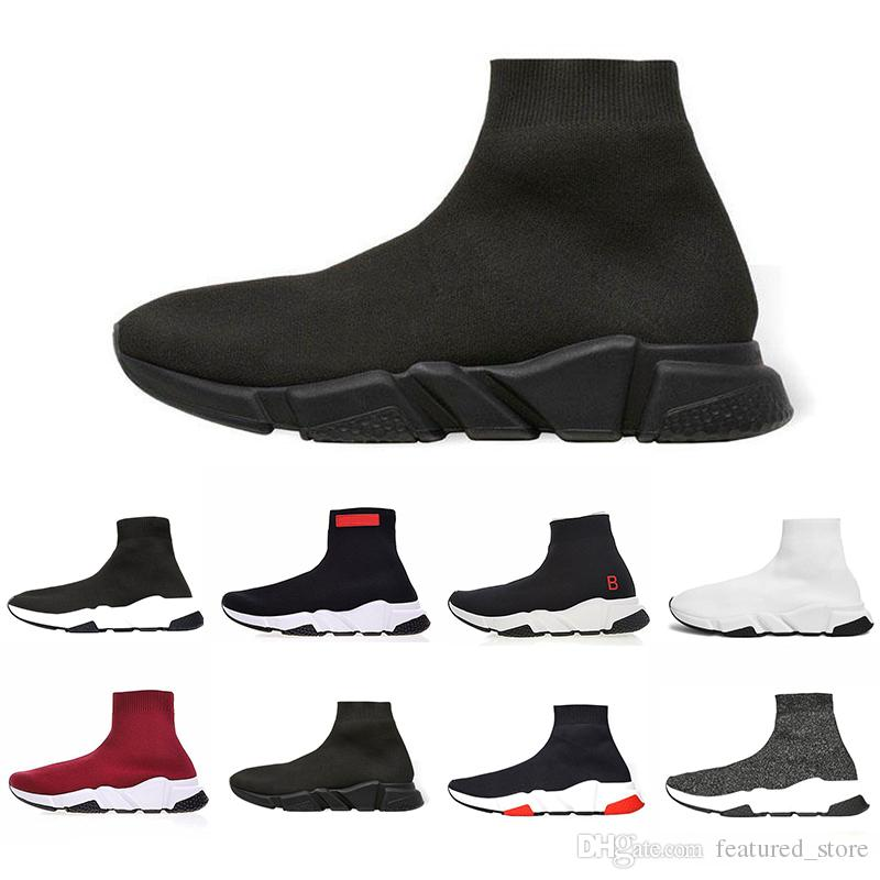 a48a780d9 New Classic Designer Speed Trainer Luxury Brand Shoes Black White ...