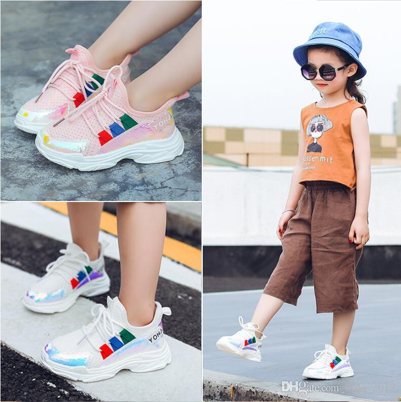 5f5d35d35 Compre Zapatos Para Correr Para Niñas Zapatillas De Deporte Para Niños  Transpirables Zapatos De Malla Para Niños Planos Con Las Niñas Zapatos De  Moda Para ...