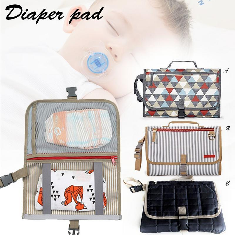 Multi-Functional Portable Baby Diaper Pad Storage Foldable Waterproof Baby Diaphragm Changing Insulation Pad
