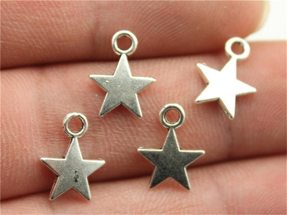 craft charm wholesale necklace 16mm Copper Plated Star Pendent Lot 5760 pcs