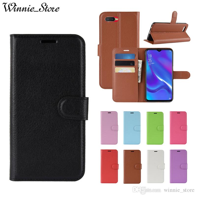 For OPPO K1 RX17 Neo R17 R15 Pro R11S R11 Plus Flip PU Leather Wallet Smart Phone Case Cover with Credit Card Stand Coque Funda