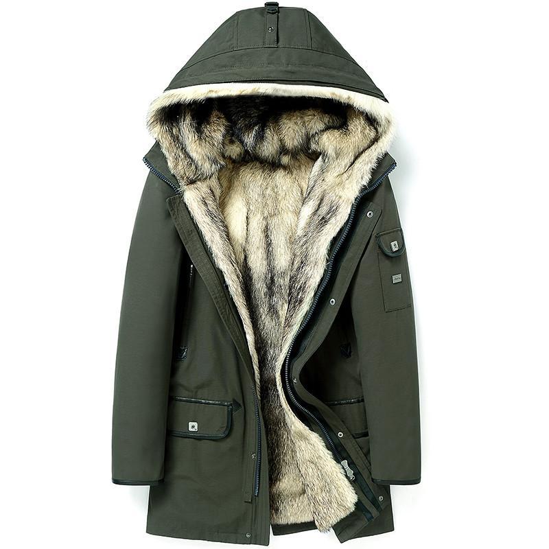 Wolf Fur Coat >> Real Fur Coat Natural Wolf Fur Coats Winter Jacket Men Clothes 2018 Man Warm Parka Plus Size 4xl 5xl Manteau Homme Hiver My1800