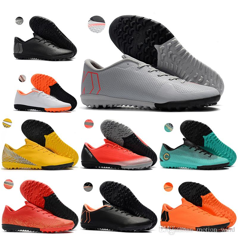 36c6872d3 2019 New Mens Low Ankle Football Boots CR7 Mercurial VaporX XII Academy IC  TF Soccer Shoes Neymar SuperflyX 6 Indoor Turf Soccer Cleats From  Motion wind