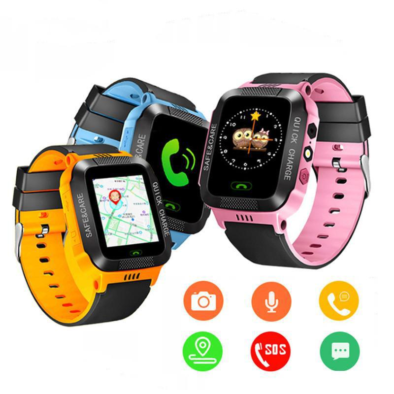 GPS tracker kids watch Camera touch Screen SOS Call Location Baby clock kids Smart watches Q528 Y21 2G boys digital
