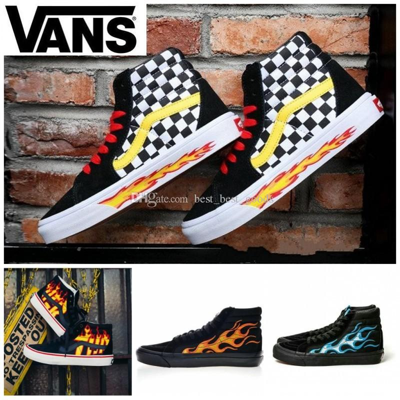 5b1ce981a6b575 2019 2019 VANS Old Skool X Wtaps Sk8 Hi Era 18ss Suede Men Flame Skateboard  Shoes Sk8 Hi Skate Women Trainers Canvas Designer Sneakers 36 45 From ...