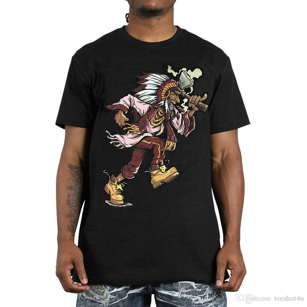 26cab735 Hustle Gang Men s Stomper T Shirt Black Native American Indian Clothing  Apparel T Shirt For Men Geek Custom Short Sleeve Valentine s XXXL Gr