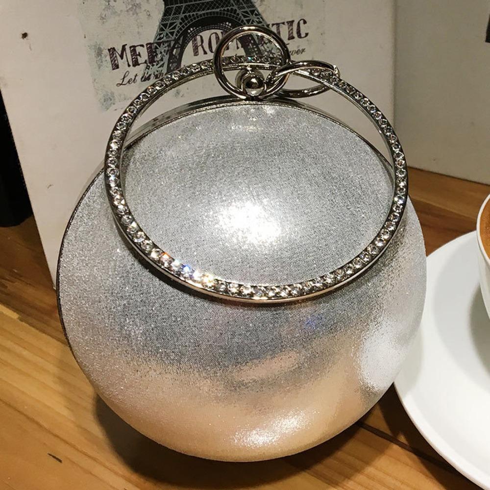 Novo Estilo de Festa Noite Bolsas de Embreagem Mulheres Bolsas de Ombro Círculo Mulher Moda Bola Parttern Noite bolsas Crossbody Bag
