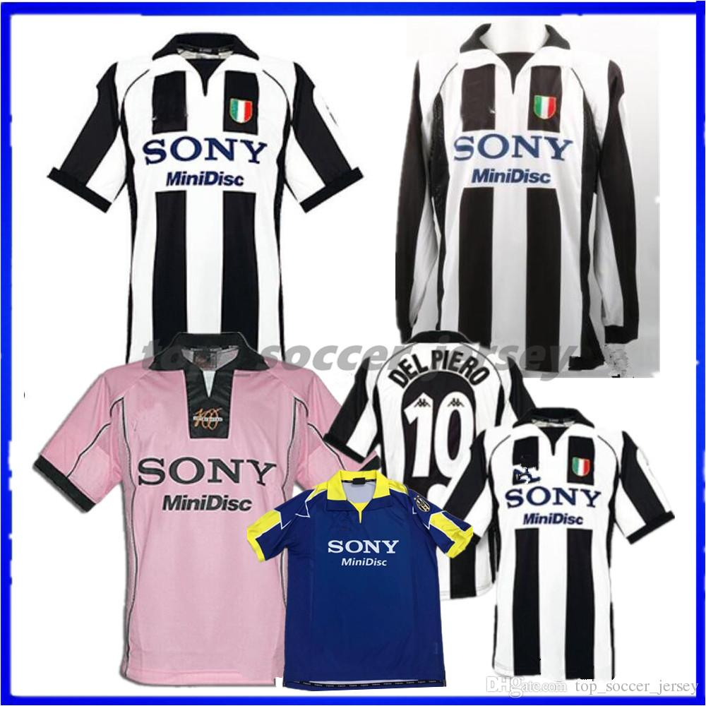 official photos 1aa4e 7e1ae 1997 1998 Juventus ZIDANE RETRO SOCCER JERSEYS away pink long sleeve DEL  PIERO 97 98 JERSEY INZAGHI 9 LS FOOTBALL SHIRTS