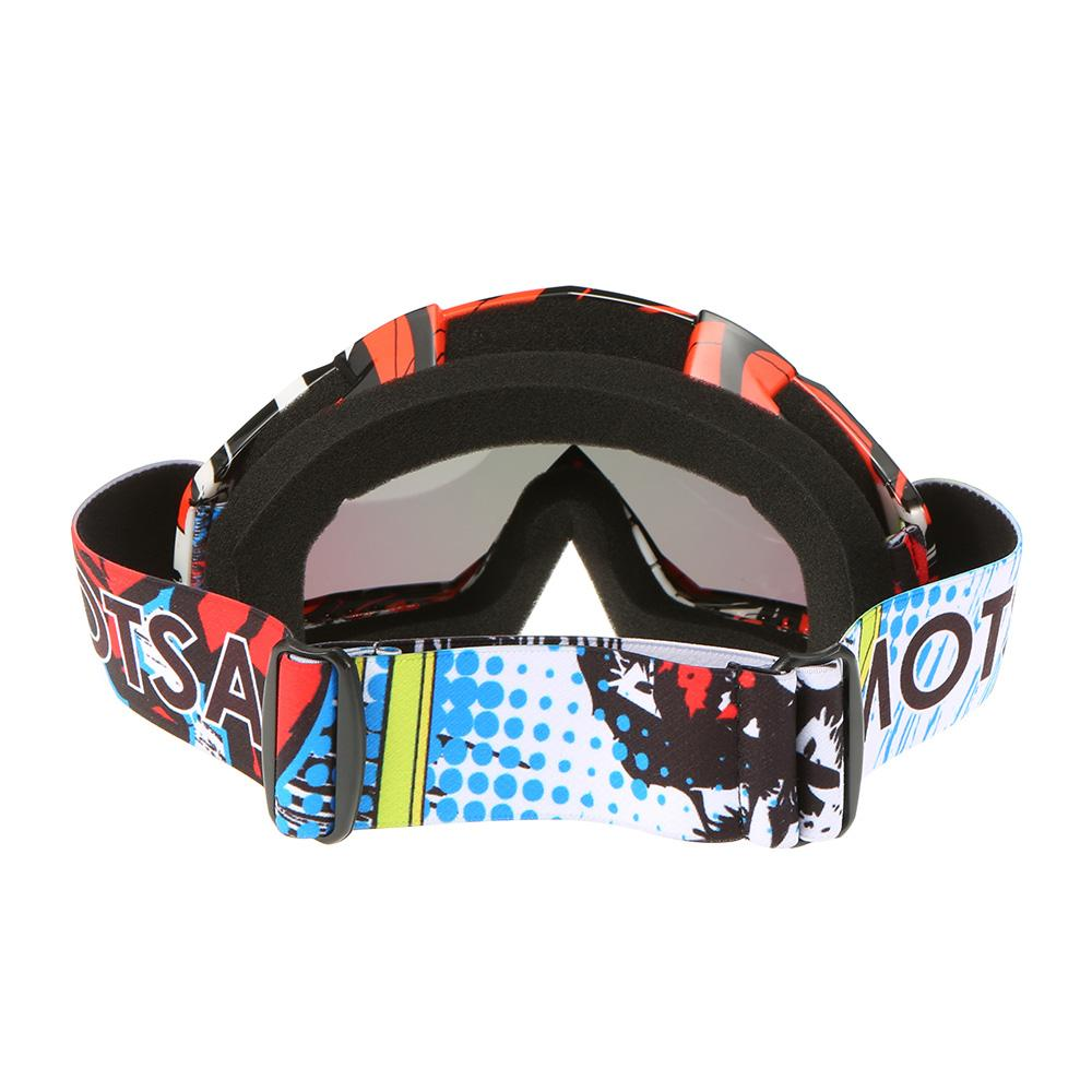 Fashion Motorcycle Racing Riding Cycling Goggles Outdoor Ski Wind-proof Antifog Glass Color Lens