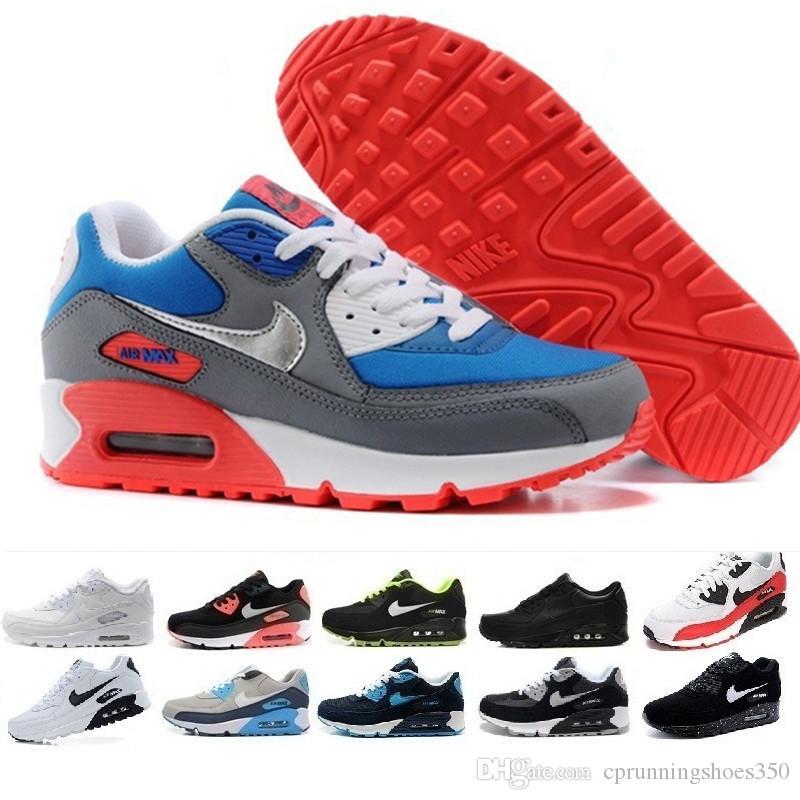 nike air max 90 airmax 2017 de alta calidad zapatillas de deporte Cojín 90 KPU hombre para mujer clásico 90 zapatos casuales zapatillas de deporte