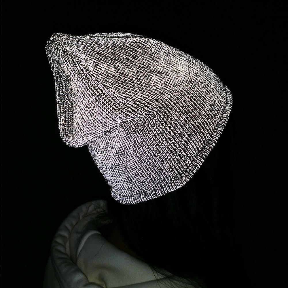 TOHUIYAN Reflective Beanie Hat For Men Women Autumn Winter Warm Knitted  Hats Skullies Bonnet Chapeu Feminino Gorras Knit Ski Cap C18112301 Trucker  Hats ... f13bc03dc58a