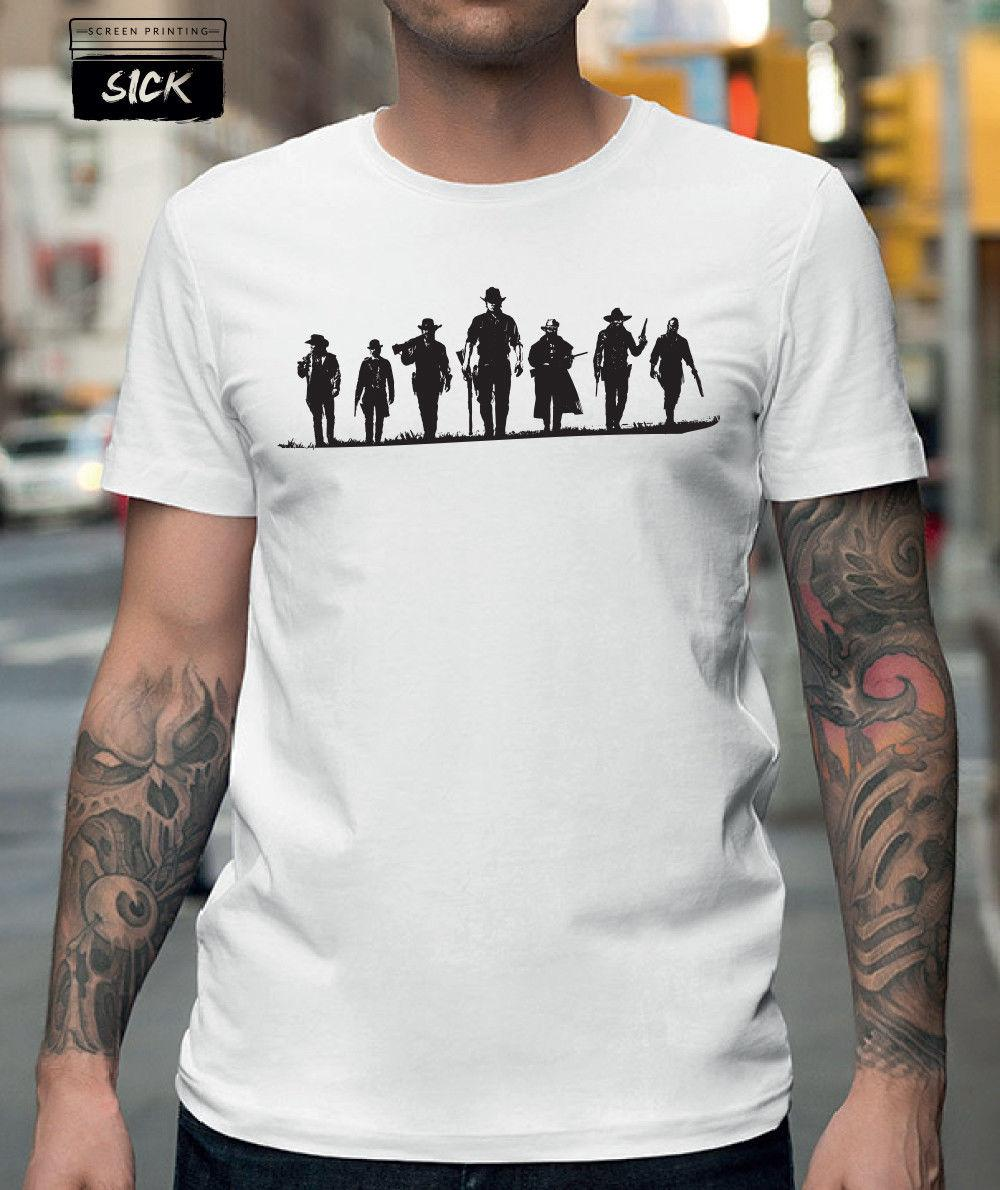 b094f09d368 RED DEAD REDEMPTION T SHIRT SILHOUETTE PS4 XBOX VIDEO GAME 100% COTTON TOP  NEW 2018 New Brand