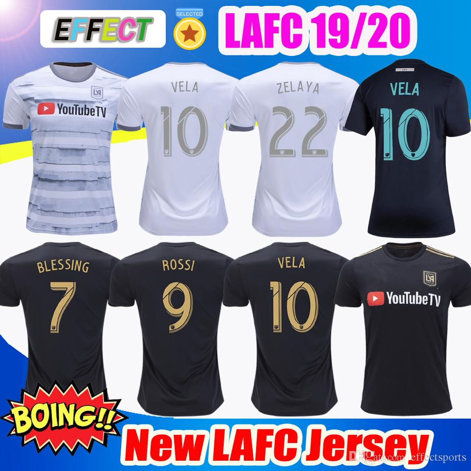 37333644d 2019 New Arrived 2019 LAFC Carlos Vela Soccer Jerseys 18 19 20 Home X  ZELAYA ROSSI Los Angeles FC Black Parley Primary WHITE Football Shirts From  ...