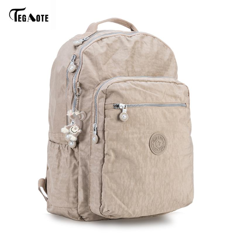 Tegaote Backpack Student College Waterproof Nylon Backpack Men Women Material Escolar Mochila Quality Brand Laptop Bag School Y19061204