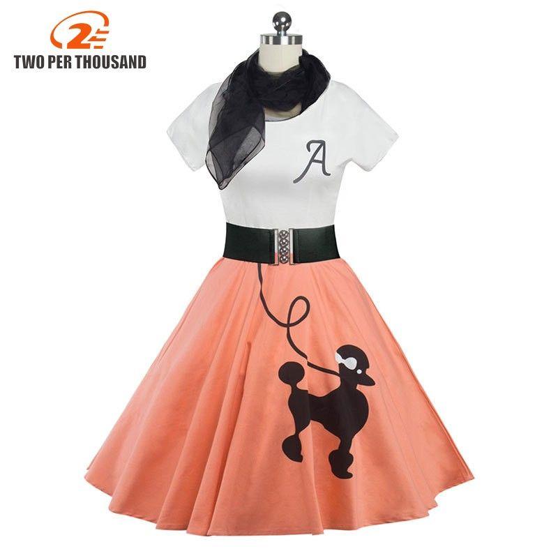 060dbfa4053 2018 Women Clothing Pin UP Vestidos Summer Printing Puppy Retro Casual  Party Robe Rockabilly 50s 60s Vintage Dresses
