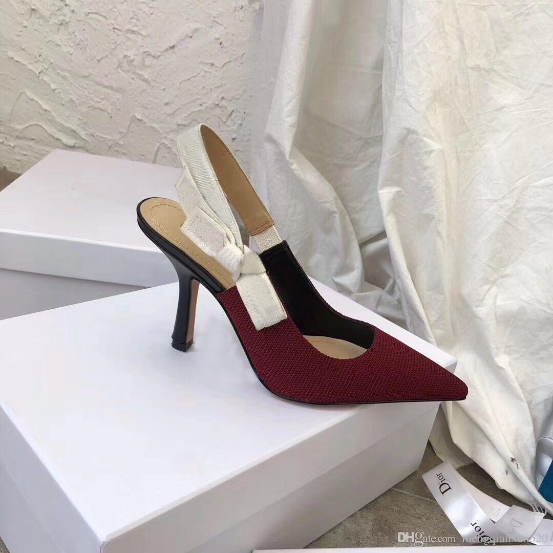 Sandálias de salto alto Gladiador de couro mulheres sandálias fina salto alto sapatos de salto alto moda sexy letra pano mulher sapatos tamanho grande 34-41-42