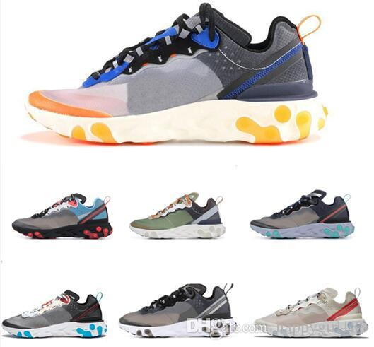 074c52200d7d 2019 Newest Epic React Element 87 UNDERCOVER Mens Shoes Casual Sail  Anthracite Thunder Blue Midnight Navy Green Mist Women Sneaker Black Shoes  Wholesale ...