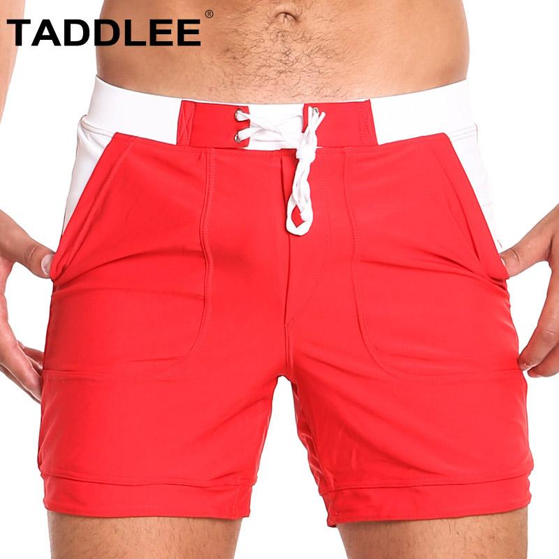682650f4f9 2019 Taddlee Brand Sexy Swimwear Men Swimsuits Basic Long Surfing Board  Shorts Trunks Quick Dry Swimming Boxer Briefs Bikini Solid From Carawayo,  ...