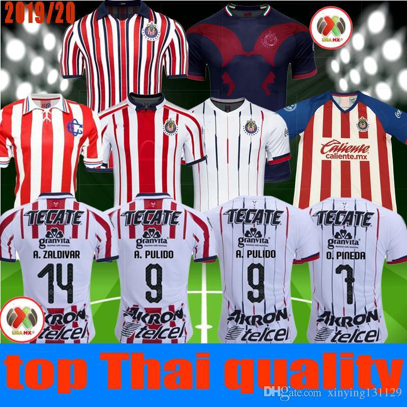 188e4772ecd 2019 World Cup 2019 2020 Chivas De Guadalajara Soccer Jersey 19 20 A.SEPULVEDA  O.PINEDA A.PULIDO I.BRIZUELA Football JerseyS KIT Shirt From Xinying131129