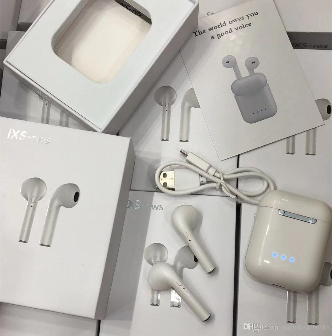 f23849d5663 Cable Para Auriculares IXS TWS Mini Gemelos Auriculares Bluetooth V 5.0  Auricular Estéreo Inalámbrico Deportivo Con Caja De Cargador 3 LED De  Capacidad De ...