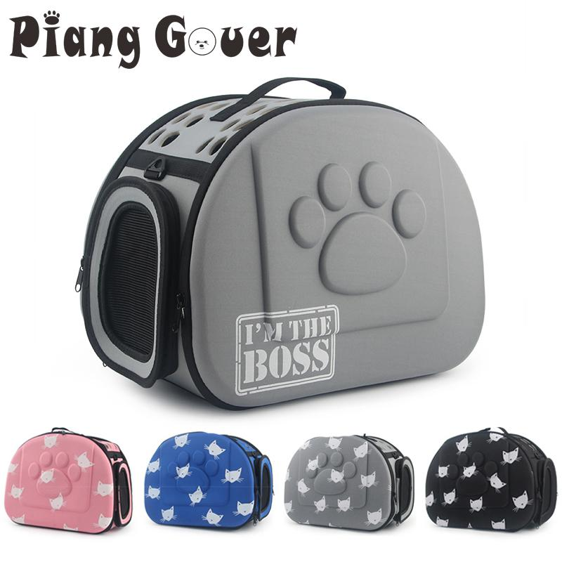 b1723cbab27 Cat Pattern Blue Dog Carrier Portable Cats Handbag Foldable Travel ...