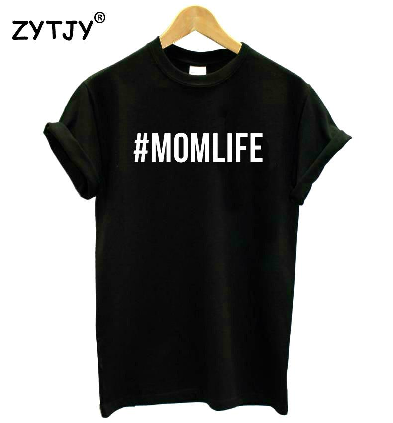 the latest c7e07 8ea63  momlife Letters Print Women Tshirt Cotton Casual Funny T Shirt For Lady  Girl Top Tee Hipster Drop Ship Sb 12 Hilarious Shirts Funky T Shirts Online  From ...
