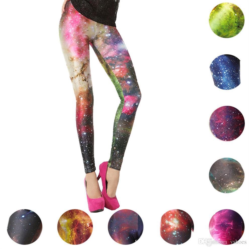 84b6856ce9ae8 2019 Aurora Sky Full Print Yoga Pants Fitness Running Leggings Halloween  Street Sports Tights Galaxy Space Pants Female Trousers Slim #310769 From  Vshoes, ...