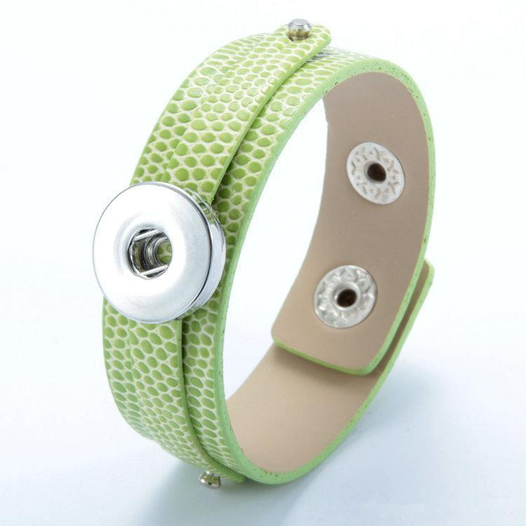 Noosa Bracelet High Quality DIY Ginger snap button Leather Bracelets Fit 18mm snap button Charms Jewelry B103