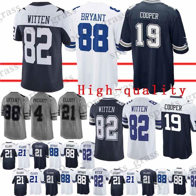 online retailer 029a2 c073f Dallas Cowboys Jersey 82 Jason Witte 88 Dez Bryant 19 Amari Cooper 4 Dak  Prescott Jerseys High-quality