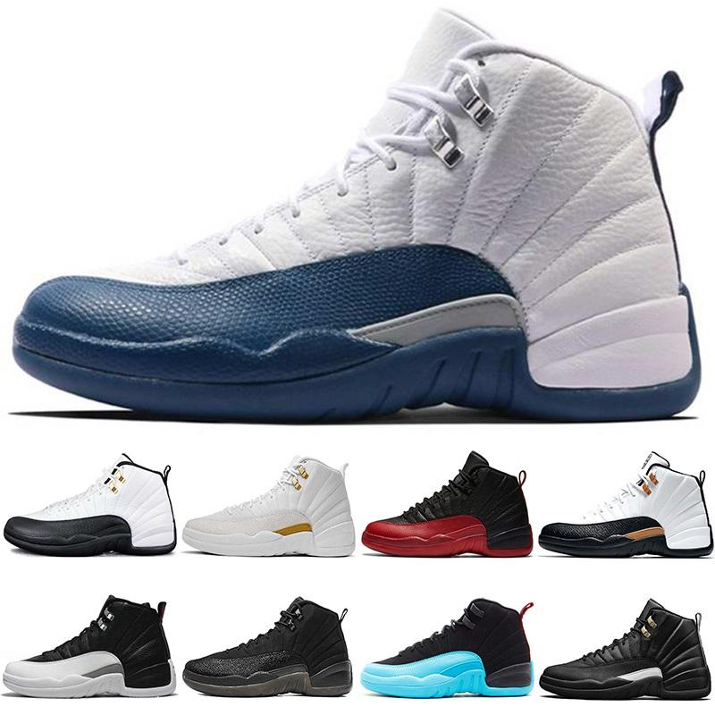 more photos 43c08 483a5 Cheap Basketball Shoes 12 12s Men Taxi The Master Flu Game French Gamma  Blue CNY Black White Playoffs Mens Sports Sneaker Free Shipping