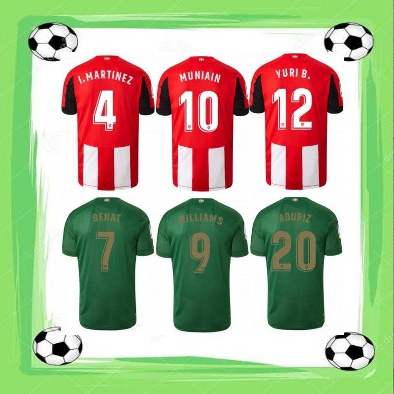 huge selection of 3ec50 5b1d3 2019/20 Athletic Club Soccer Jersey Bilbao I.MARTINEZ BENAT WILLIAMS Soccer  Shirt 2020 MUNIAIN YURI B. ADURIZ Football Uniform