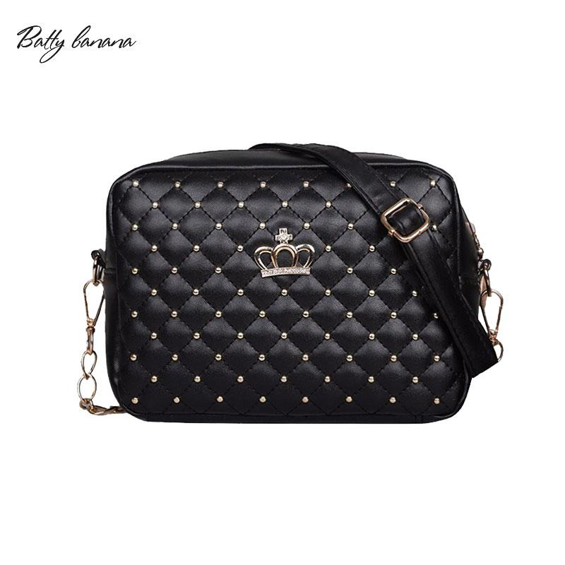 e155c7e075 BATTY BANANA Woman Side Bags Small For Ladies Chain Bag PU Leather Black  Crossbody Women Handbags Solid Female Bag Leather Purse Womens Purses From  Taylorst ...
