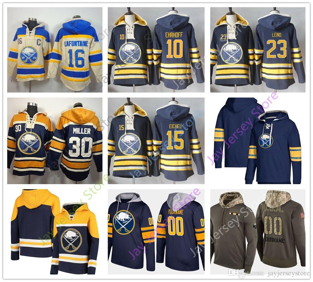 Custom Buffalo Sabres Hoodies Zach Bogosian Jack Eichel Kyle Okposo Gilbert  Perreault Pat LaFontaine Dominik Hasek Conor Sheary Jeff Skinner Mike Trout  ... 2d12a3aeb