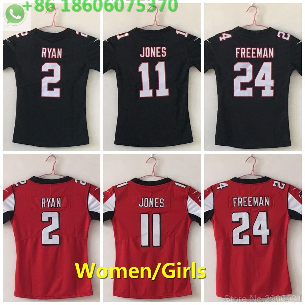 free shipping ff3f5 c913e 2018 Free shipping A+++ quality women 2 Matt Ryan 11 Julio Jones 24 devonta  freeman Jersey Atlanta