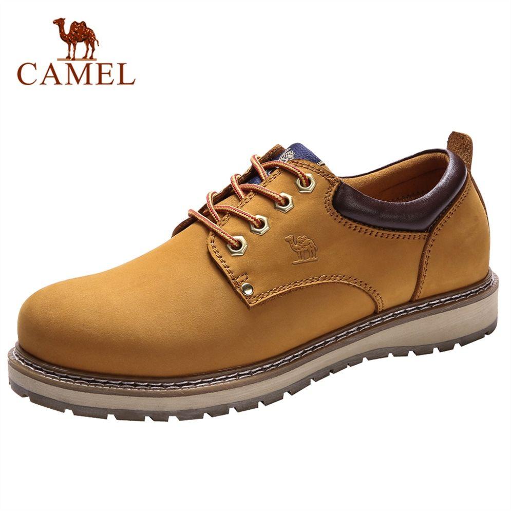 b82508abc1e0e Compre CAMEL Hombres Zapatos De Cuero Genuino Inglaterra Tendencia Calzado  Masculino De Los Hombres Al Aire Libre Botas Cortas Hombre Zapatos De  Trabajo De ...