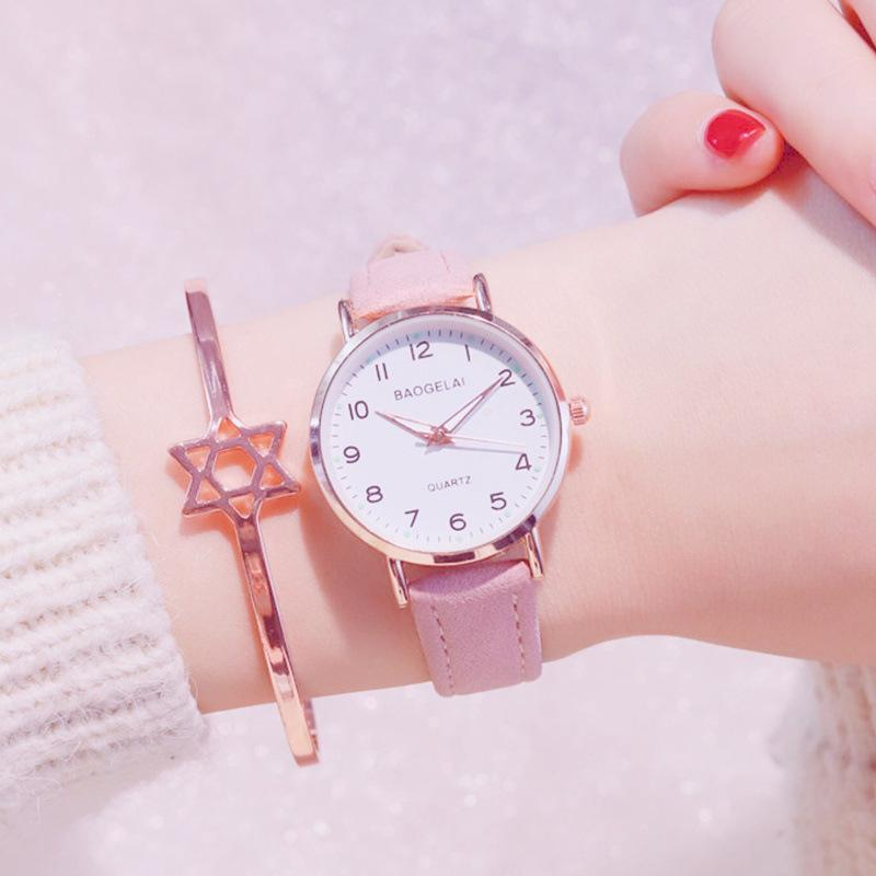 Simple Quartz Watches for Women Ladies Dress Creative Clock Small Dial Design Wristwatch New for Girls Gifts