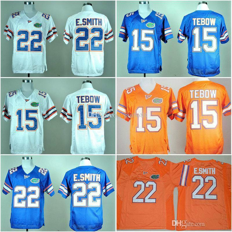 timeless design d4d07 6e74b 2018 College Florida Gators Football Jerseys NCAA 15 Tim Tebow Jersey 22  E.Smith Team Color Blue White Orange Stitched And Embroider Jersey