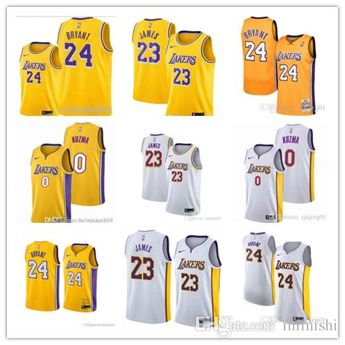 670a3cffe0a NEW 23 LeBron James Laker Jersey The City Los Angeles Kobe 24 Lonzo 2 Ball  Kyle 0 Kuzma Brandon 14 Ingram Basketball Jersey Cotton T Shirts Fitted  Shirts ...